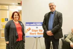 December 3, 2019: Sen. Kearney hosted an ACA sign-up event at the Newtown Library in Delaware County.