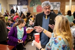 March 1, 2019: Senator Kearney celebrates National School Breakfast Week at Tinicum School  by participating in a synchronized state-wide event – Hear the Pennsylvania Crunch!
