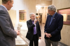 March 11, 2019: Senator Kearney being shown original Pennsylvania Charter during tour of Department of State.