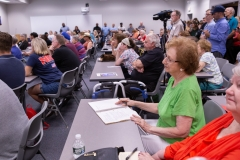 August 20, 2019: More than 200 people crowded into Sen. Kearney's held a town hall tonight in Morton, Delaware County to discuss ways to address gun violence.