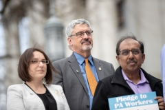 April 9, 2019: Senator Tim Kearney joins SEIU at state Capitol rally for better workers' rights.