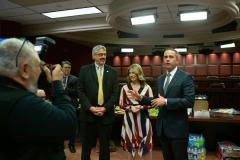 January 1, 2019: Senator Tim Kearney is sworn  into his 1st term in the Pennsylvania State Senate.