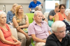 July 31, 2019: Senator Tim Kearney hosts a town hall discussion at the Ridley Township Library in Folsom. Senator Kearney provided an update on issues he has been working on in Harrisburg and in the district, and answered questions from constituents.