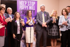 October 22, 2019: Supporters of Victoria's Law, a bill to end the puppy mill industry in Pennsylvania, were joined in the Capitol today by three-time Olympic gold medalist Heather Mitts, a defender for the U.S. Women's National Team and an animal advocate.  Mitts, a native of Ohio, now lives in Delawary County.