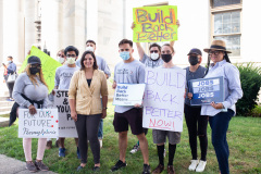 August 26, 2021: Senators Kearney and Cappelletti  held a rally in front of the Delaware County Courthouse in Media with We the People and  For Our Future to call for release of idled American Rescue Plan Funds to help the vulnerable and rebuild the economy.