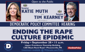 Policy Hearing to Address the Institutional and Societal Rape Culture Epidemic -September 20, 2019