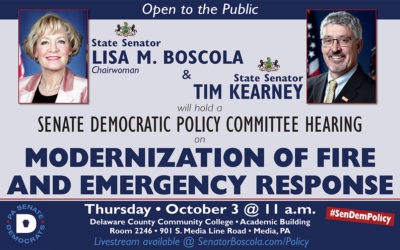 Sen. Kearney to Hold Policy Hearing on Firefighting and EMS Services