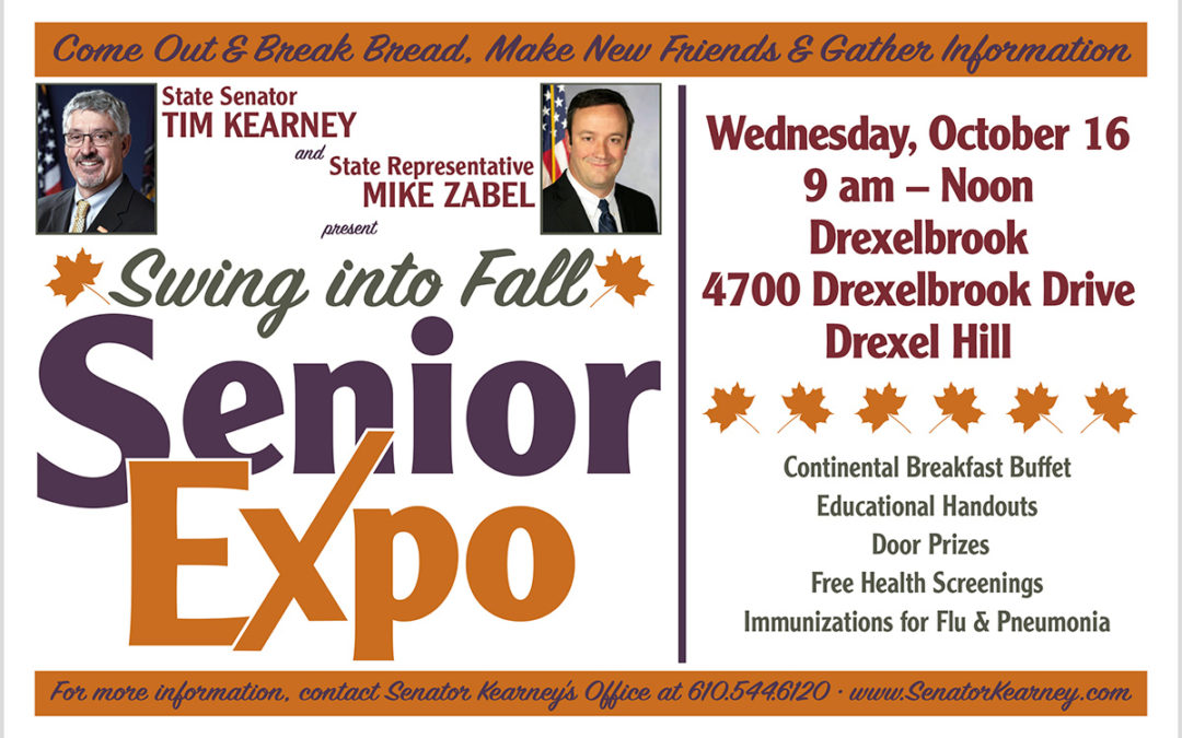 Sen. Kearney and Rep. Zabel to Hold Senior Expo