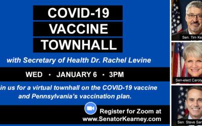 Kearney, Comitta, Santarsiero to Hold Virtual Townhall on COVID-19 Vaccine