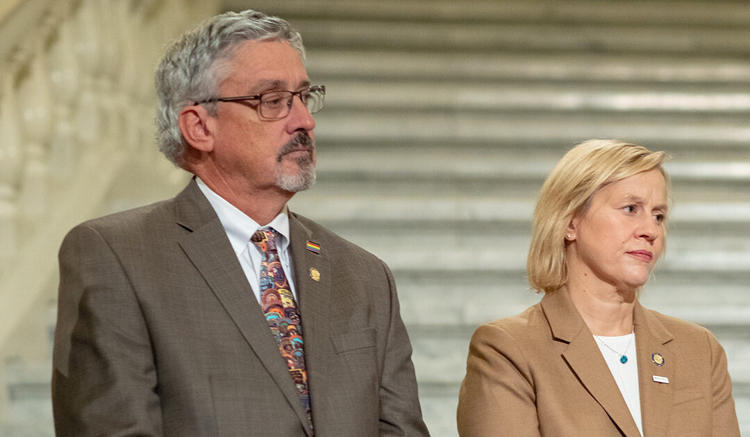 Senator Tim Kearney and Senator Maria Collett